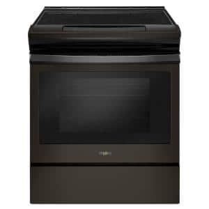 4.8 cu. ft. Electric Range with Easy-Wipe Ceramic Glass Cooktop in Fingerprint Resistant Black Stainless