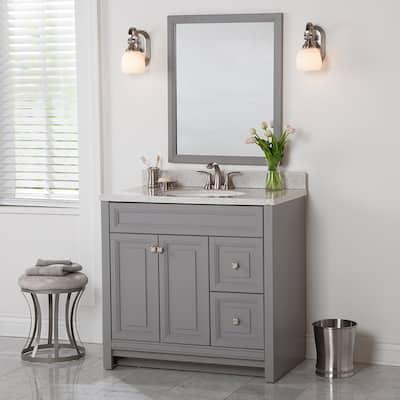 36 Inch Vanities Gray Bathroom Vanities Without Tops Bathroom Vanities The Home Depot