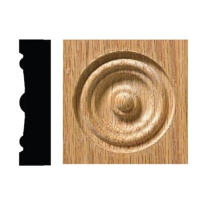 642C 5/8 in. x 2-1/2 in. x 2-1/2 in. Red Oak Corner Block Moulding