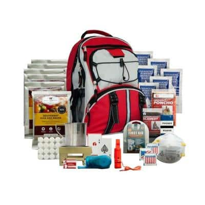 5-Day Survival Backpack, Red