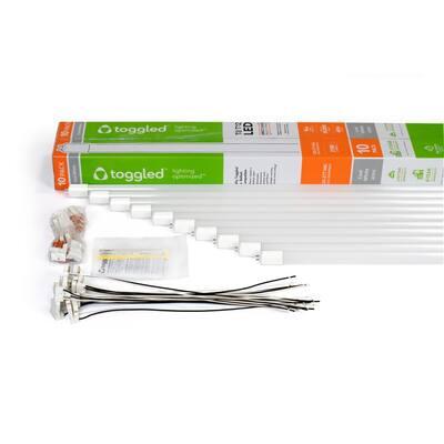 16-Watt 48 in. Universal Voltage Linear LED Tube Light Bulb 4000k (10-Pack)