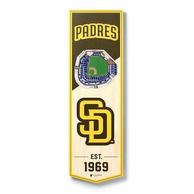 MLB San Diego Padres 6 in. x 19 in. 3D Stadium Banner-Petco Park