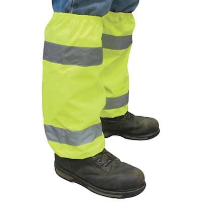 S486 Hi Viz Lime Poly Oxford Leg Gaiters