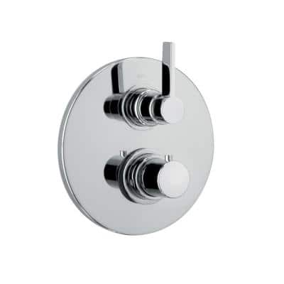 Elix 2-Handle 1-Spray Shower Faucet with Thermostatic Valve with 2-Way Diverter Volume Control in Chrome
