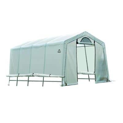 20 ft. D x 10 ft. W x 8 ft. H GrowIt Peak-Style Greenhouse-In-A-Box with Patent-Pending Stabilizers