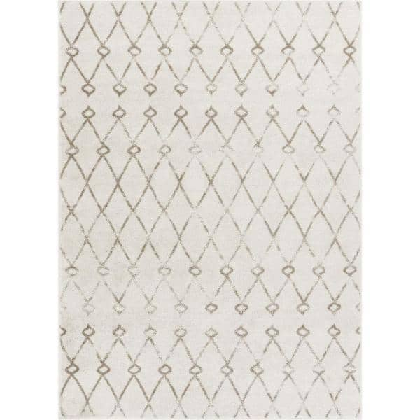 Well Woven Serenity Passione Ivory Modern Geometric Lattice 9 Ft 3 In X 12 Ft 6 In Area Rug Se 102 8 The Home Depot