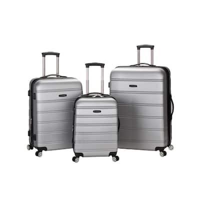 Melbourne 3-Piece Hardside Spinner Luggage Set, Silver