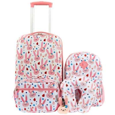 5-Piece Kid's Luggage Set with Spinner Wheels on Carry-on