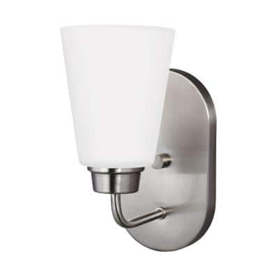 Kerrville 1-Light Brushed Nickel Wall Sconce