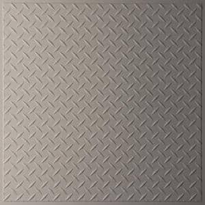 Diamond Plate Latte 2 ft. x 2 ft. Lay-in or Glue-up Ceiling Panel (Case of 6)