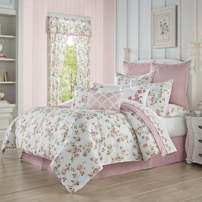 Rosemary 4-Piece Rose Queen Comforter Set