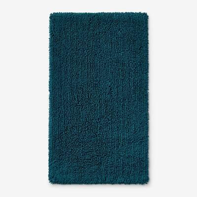 Company Cotton Chunky Loop Deep Teal 24 in. x 40 in. Bath Rug