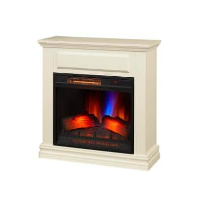 Wheaton 31 in. Freestanding Electric Fireplace in White