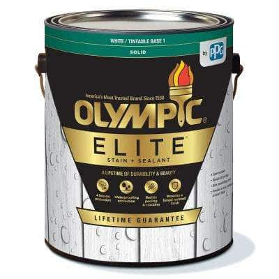 Elite 1 Gal. Base 1 Solid Advanced Exterior Stain and Sealant in One