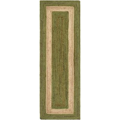 Caserta Grass Green 3 ft. x 8 ft. Indoor Runner Rug