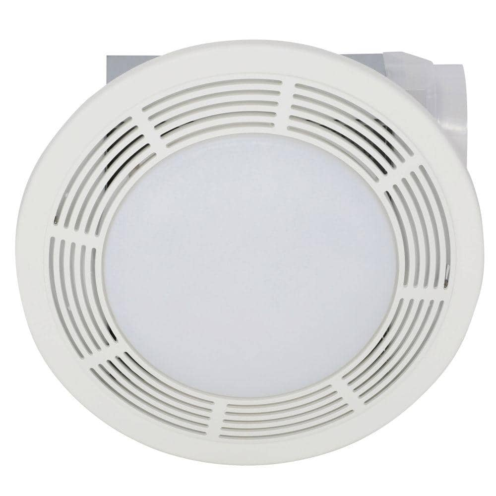 Broan Nutone 100 Cfm Ceiling Bathroom Exhaust Fan With Light 751 The Home Depot