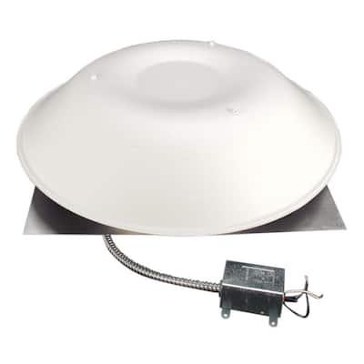 LomanCool 2000 800 CFM White Power Attic Vent
