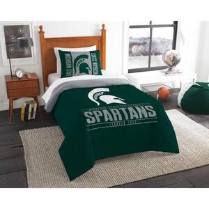 Michigan State 2-Piece Modern Take Multi Twin Comforter Set