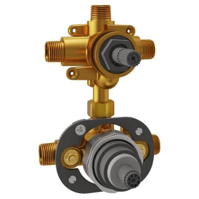 Flash 3-Way Integrated Shower Diverter Rough-In Valve with Pressure Balance Valve Cartridge