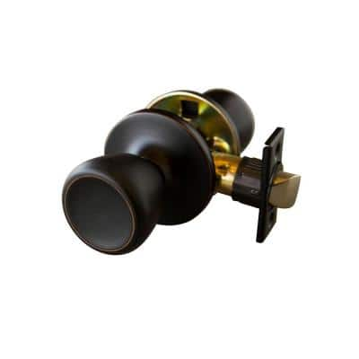 Terrace Oil Rubbed Bronze Passage Hall/Closet Door Knob with Universal 6-Way Latch
