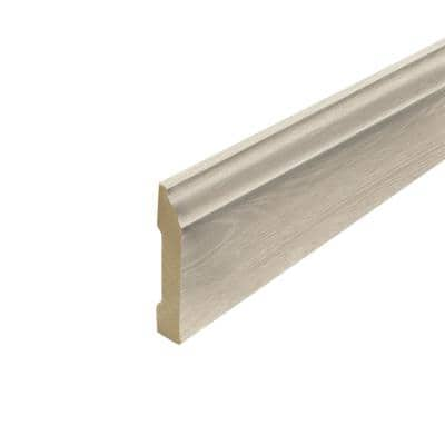 Soft Oak Glazed 0.62 in. Thick x 3.3 in. Wide x 94.5 in. Length Laminate Wallbase Molding