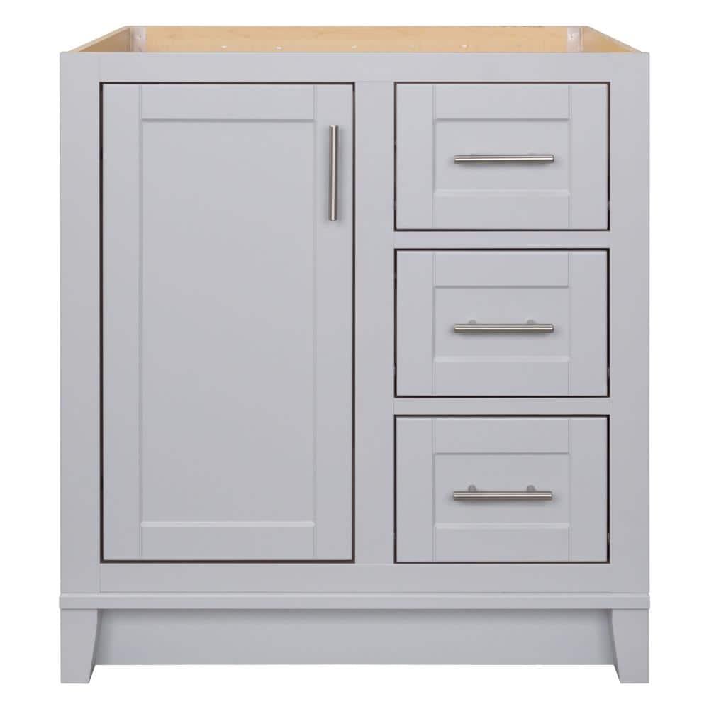 Glacier Bay Kinghurst 30 In W X 21 In D X 33 5 In H Bathroom Vanity Cabinet Only In Dove Gray Khdov30dy The Home Depot