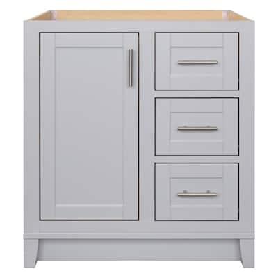 Kinghurst 30 in. W x 21 in. D x 33.5 in. H Bathroom Vanity Cabinet Only in Dove Gray