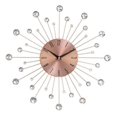 Copper Metal Glam Wall Clock