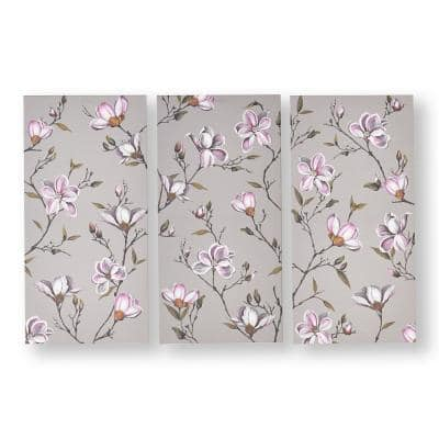 """24 in. x 12 in. """"Magnolia Daydream"""" Printed Canvas Wall Art"""