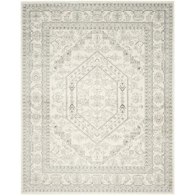 Adirondack Ivory/Silver 9 ft. x 12 ft. Area Rug