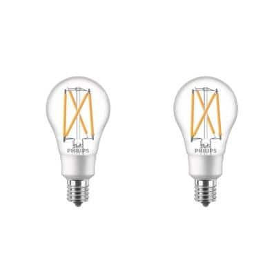 60-Watt Equivalent A15 Dimmable Intermediate Base LED Light Bulb with Warm Glow Dimming Effect Soft White (2-Pack)
