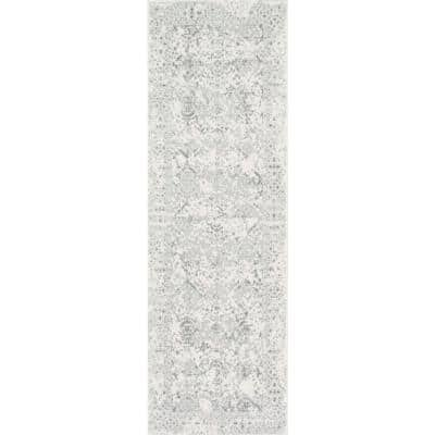 Odell Distressed Persian Ivory 3 ft. x 20 ft. Runner