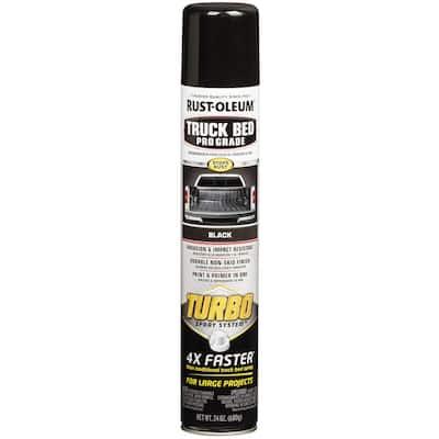 24 oz. Turbo Spray Black Truck Bed Coating Spray Paint