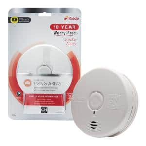 10 Year Worry-Free Sealed Battery Smoke Detector with Photoelectric Sensor