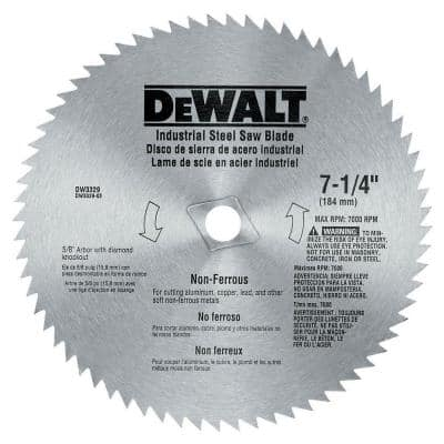 7-1/4 in. 68-Teeth Steel Non-Ferrous Steel Saw Blade