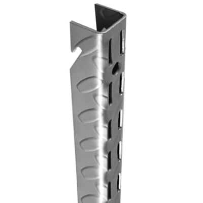 Heavyweight 75 in. Diamond Plate Steel Wall Standard in Platinum