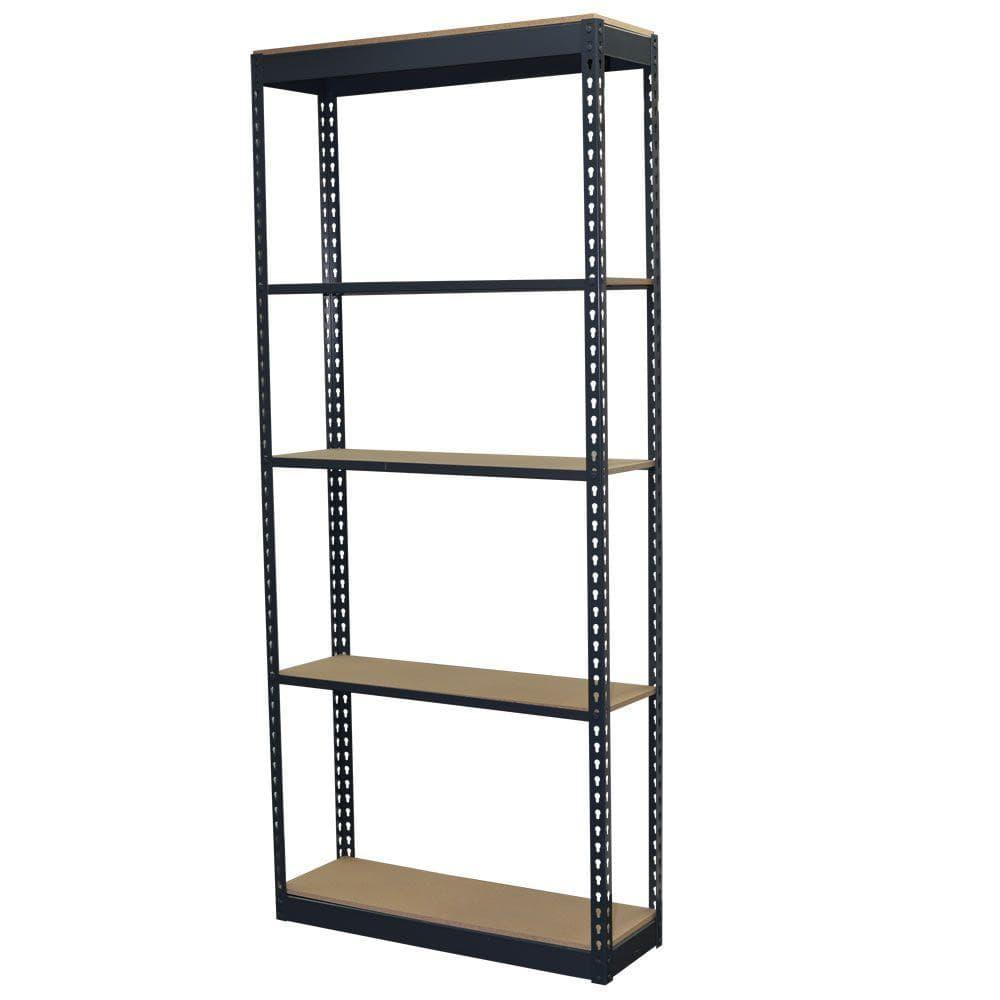 Storage Concepts 5 Tier Boltless Steel Garage Storage Shelving Unit 36 In W X 96 In H X 12 In D P2a5 3612 96w The Home Depot
