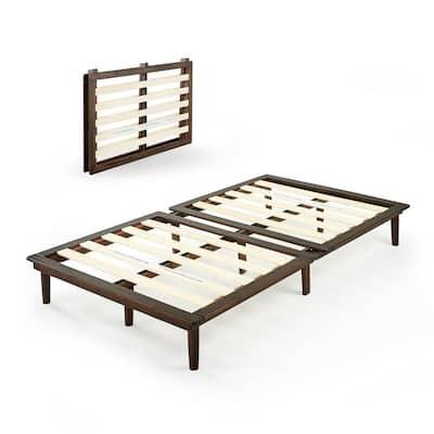 Bobbie Brown Twin Wood Platform Bed Frame without Headboard