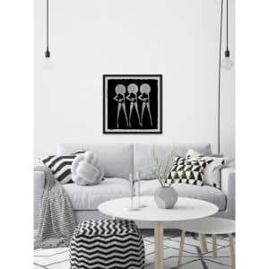 12 in. H x 12 in. W Black Summer'' by Marmont Hill Framed Wall Art