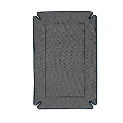 25 in. x 37 in. Large Gray Odor-Control Crate Pad/Bed
