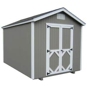 Classic Gable 12 ft. x 12 ft. Wood Storage Building DIY Kit with Floor