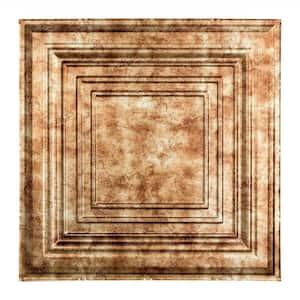 Traditional #3 2 ft. x 2 ft. Bermuda Bronze Lay-In Vinyl Ceiling Tile ( 20 sq.ft. )