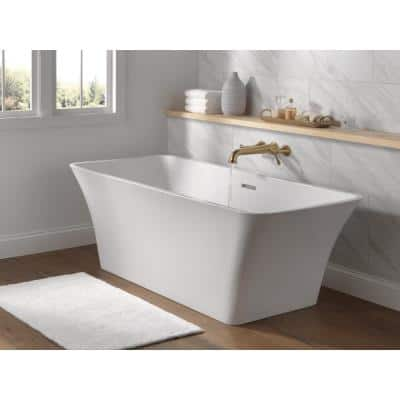 Torrelle 67 in. Acrylic Flatbottom Bathtub with Integrated Waste in White