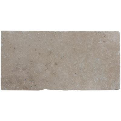 Mediterranean Walnut 6 in. x 12 in. Brown Chiseled Travertine Paver Tile (187 Pieces/93.5 Sq. Ft./Pallet)