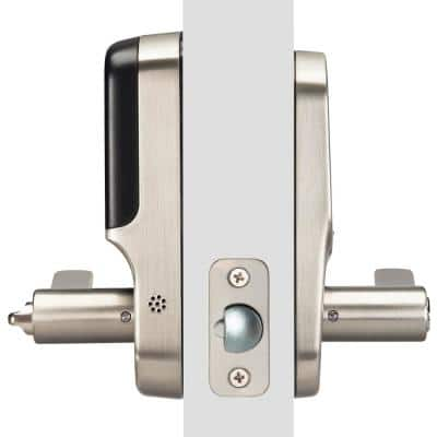 Assure Smart Lever Satin Nickel Lock with Wi-Fi and Touchscreen Keypad