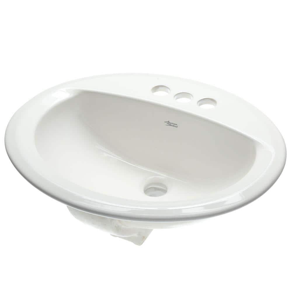 American Standard Aqualyn Self Drop In Bathroom Sink White 0476 028 020 The Home Depot