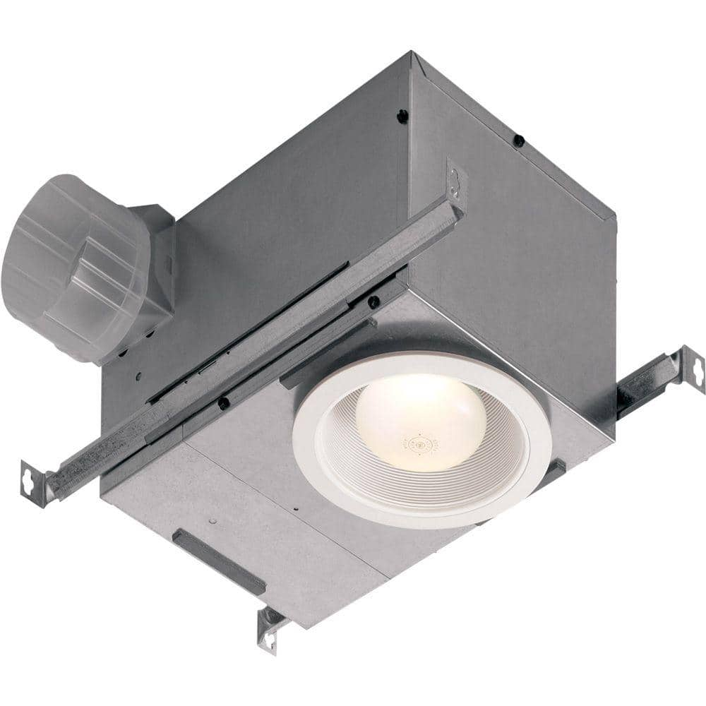 Broan Nutone 70 Cfm Ceiling Bathroom Exhaust Fan With Recessed Light 744nt The Home Depot