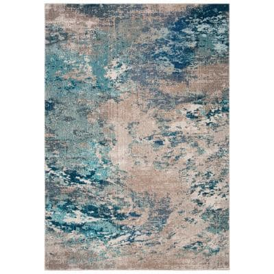Madison Blue/Gray 6 ft. x 9 ft. Area Rug