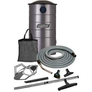 Wall Mounted Utility Vacuum with 50 ft. Hose and Attachments
