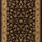 Sapphire Sarouk Black 26 in. x Your Choice Length Stair Runner